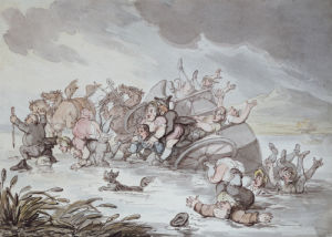 The Mishap, 1806 by Thomas Rowlandson