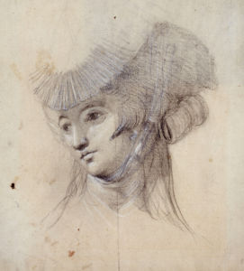 Portrait Study Of A Woman, Probably Mrs. Fuseli by Johann Heinrich Fuseli