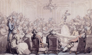 The Concert, Bath Chambers by Thomas Rowlandson