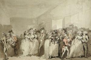 Box-Lobby Loungers, 1785 by Thomas Rowlandson