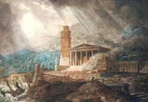A Capriccio Of A Roman Port During A Storm by Joseph Michael Gandy