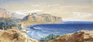 Monaco From Cap D'ail, 1865 by Edward Lear