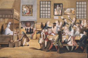 Scene In A London Coffee House, C. 1695 by English School