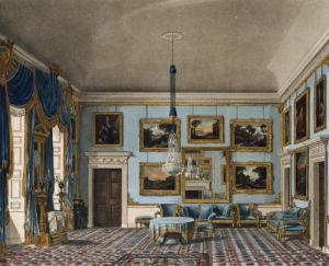 The Blue Velvet Room, Buckingham House, 1819 by J. Stephanoff