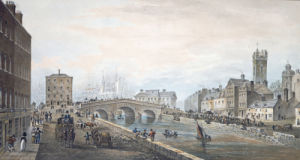 Limerick: Charlotte Quay And George's Quay, 1819 by Samuel Frederick Brocas