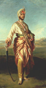 Portrait Of The Maharajah Duleep Singh Of Elveden, Standing Full Length by Franz Xavier Winterhalter