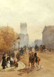 Parliament Street, 1892 by Rose Maynard Barton