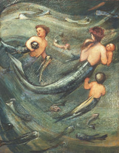 Mermaids In The Deep, 1882 by Sir Edward Burne-Jones