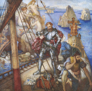 The Islands Of The Sirens; Ulysses Lashing Himself To The Mast by Andrew Benjamin Donaldson