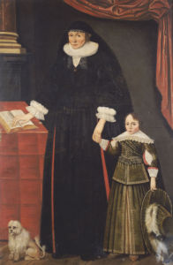 Portrait Of A Lady & A Young Boy by English School