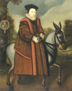 William Cecil, 1st Baron Burghley (1520-1598), Riding A Grey Mule by English School