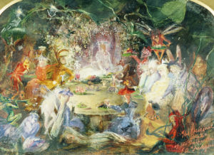 The Original Sketch For The Fairy's Banquet by John Auster Fitzgerald