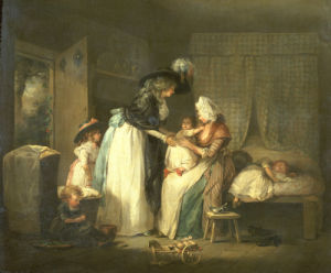 The Visit To The Child At Nurse by George Morland