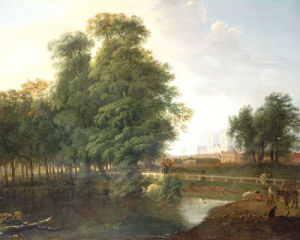 A View Of Westminster Abbey, From Rosamund's Pond, St. James's Park by John Inigo Richards