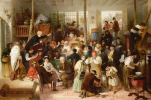 The Auction, 1863 by John Morgan