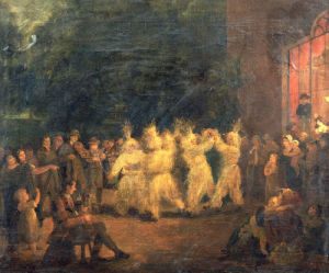The Harvest Dance At Rosanna, Co.Wicklow by Maria Spilsbury