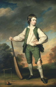 The Young Cricketer: Portrait Of Lewis Cage by Francis Cotes