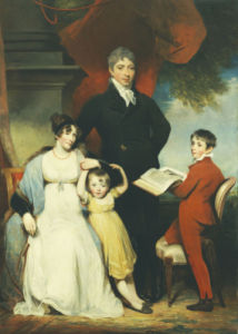 Group Portrait Of The Hudson Family by William Owen