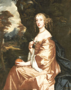 Portrait Of A Lady Penelope Nicholas, Circa 1662 by Sir Peter Lely