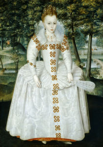 Traditionally Identified As Queen Elizabeth Of Bohemia (1596-1662), 1603 by Robert Peake The Elder