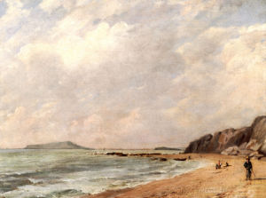 A View Of Osmington Bay, Dorset, Looking Towards Portland Island by John Constable