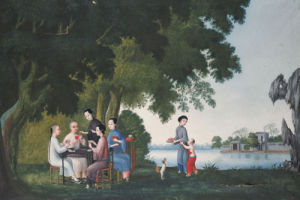 Chinese Playing Cards By A River by Christie's Images