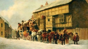 Outside The George Inn, 1879 by John Christian Maggs