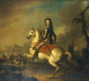 Portrait Of King William III, In Armour by Jan Wyck