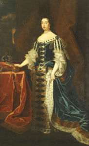 Portrait Of Queen Mary II (1662-1694), In State Robes by Sir Godfrey Kneller