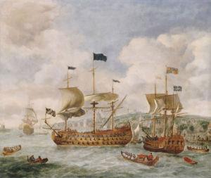 Queen Anne's Visit To Greenwich by Jan Griffier Sen