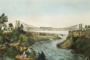 The Rail Road Suspension Bridge, 1856 by Christie's Images