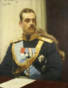 Portrait Of Grand Duke Mikhail Aleksandrovich, 1904 by Ilya Efimovich Repin