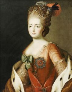 Portrait Of Maria Fedorovna by Alexander Roslin