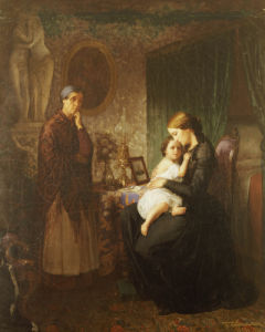 Motherly Love (Fl.1854) by G. Bubkovskii