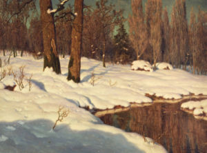 Snowscape, 1881 by Ivan Federovich Choultse