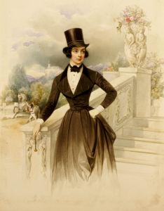 Lady In Riding Habit, Supposedly Grand Duchess Maria Nikolaevna, 1841 by Wilhelm Hau
