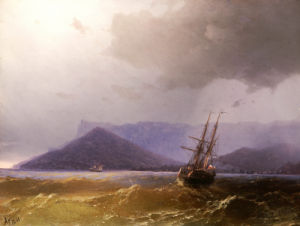 Sailing Off The Crimean Coast, 1871 by Ivan Konstantinovich Aivazovsky