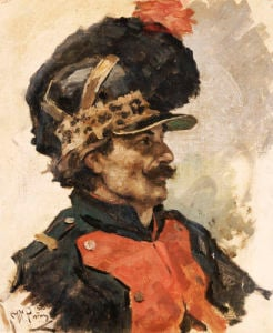 A French Soldier, 1876 by Ilya Efimovich Repin
