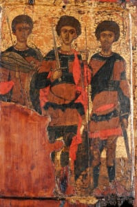 Saints George and Two Warrior Saints, Circa 1400 by Christie's Images