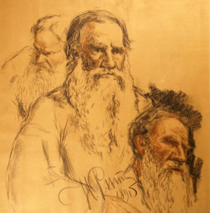 Three Studies Of Lev Tolstoi Or Leo Tolstoy (1828-1910), 1891 by Ilya Efimovich Repin