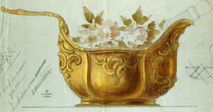 A Drawing Of A Large Gilt Metal Kovsh In The Louis XV Style by Christie's Images