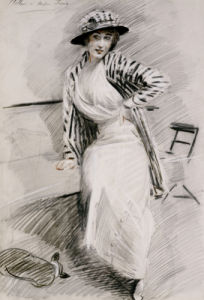 Madame Paris Sitting On Bench. Madame Paris Assise Sur Une Banquette by Paul-Cesar Helleu