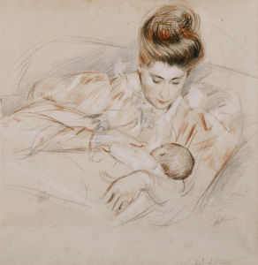 Mother And Child by Paul-Cesar Helleu