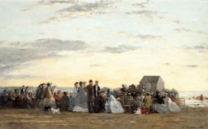 Beach Scene, 1865 by Eugene Louis Boudin