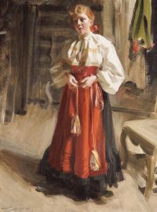 Girl In Orsa Costume, 1911 by Anders Leonard Zorn