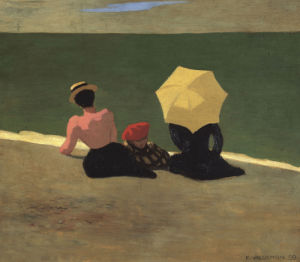 Sur La Plage, 1899 by Felix Vallotton
