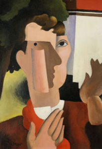 Man With A Red Scarf, 1922 by Roger de la Fresnaye