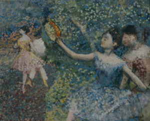 Dancer With A Tambourine, Circa 1897 by Edgar Degas