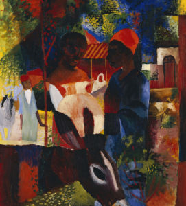 A Market In Tunis, 1914 by August Macke