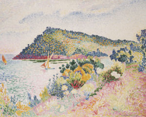 The Black Cape, Pramousquier Bay, 1906 by Henri-Edmond Cross